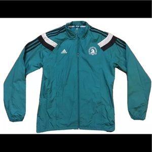 Official Adidas 2016 Boston Marathon Jacket Teal